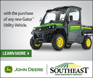 1 YEAR EXTENDED WARRANTY WITH THE PURCHASE OF A NEW JOHN DEERE UTILITY VEHICLE!